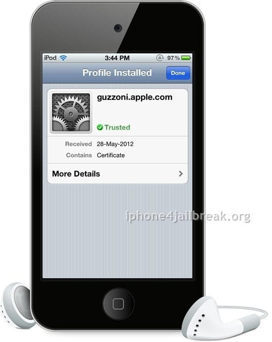 siriport activation certificate guzzoni ipod