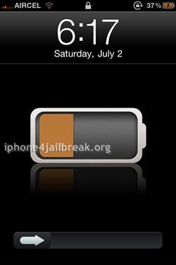 slide to unlock iphone 4 theme