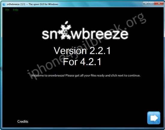 snowbreeze 4.2.1 jailbreak download