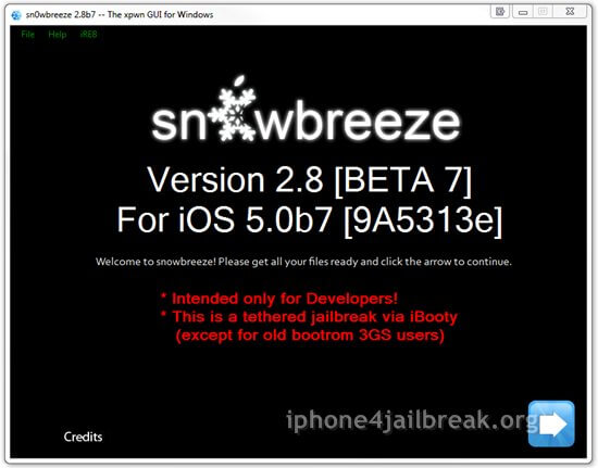 snowbreeze ios 5 jailbreak beta 7