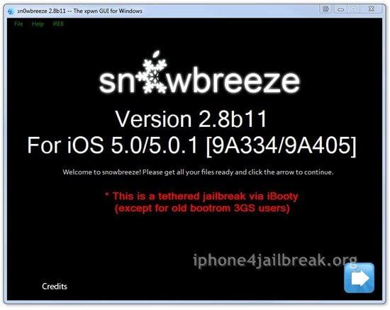 snowbreeze ios 5.0.1 jailbreak