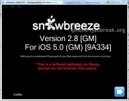 snowbreeze iphone 4 unlock ios 5