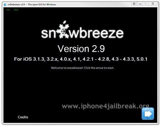 snowbreeze sn0wbreeze 5.0.1 jailbreak