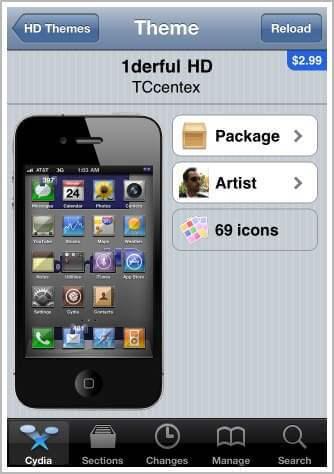 theme centre iphone 4
