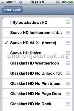 theme customization iphone 4