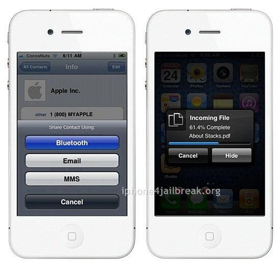 transfer bluetooth app iphone 4