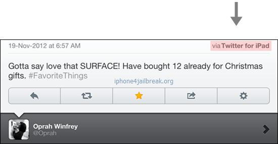 tweet  oprah surface microsoft