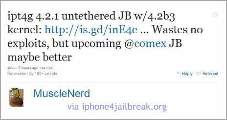 untethered jailbreak iphone 4 4.2.1