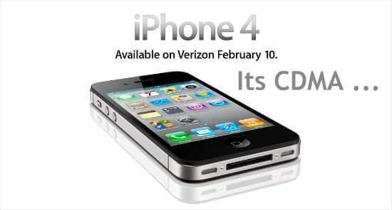 verizon iphone 4 cdma