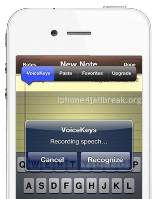 voice recognition app iphone 4
