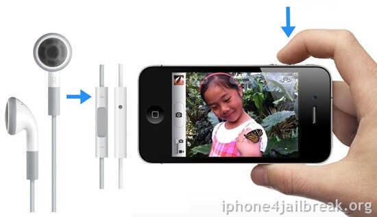 volume keys camera control iphone 4