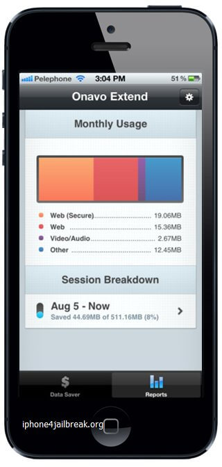 web data usage compress apps iphone 5