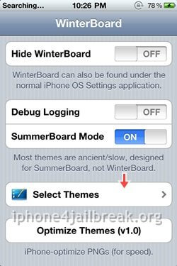 winterboard theme options