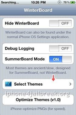winterboard theme options